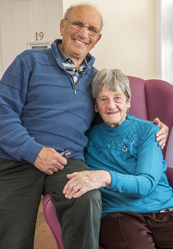 A Resident and her Husband at Broadland View