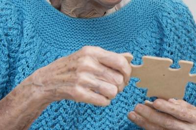 resident doing jigsaw